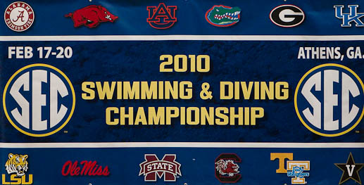 2010 SEC Swimming and Diving Championships Swimming Pictures