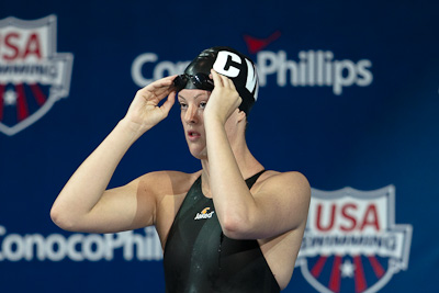 Allison Schmitt of Club Wolvering swim to second place at the 2009 ConocoPhillips USA National Swimming Championships and World Championship Trials