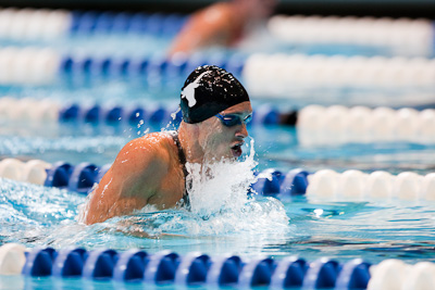 Eric Shanteau sets a new American record in swimming to a win in the 200 breaststroke at the 2009 ConocoPhillips USA National Swimming Championships and World Championship Trials