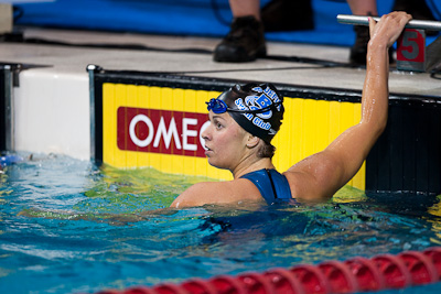 Elizabeth Beisel of Bluefish Swim Club takes first on the 400 Individual Medley at the 2009 ConocoPhillips USA National Swimming Championships and World Championship Trials