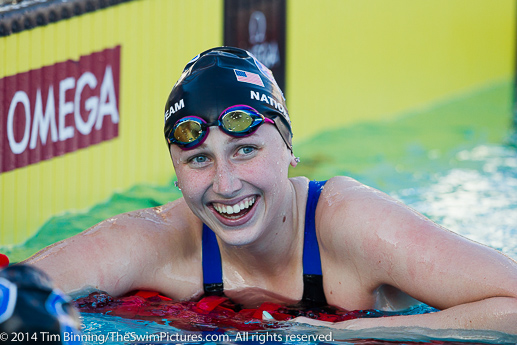 Amy Bilquist of Carmel Swim Club capture three individual gold medals at the 2014 Speedo Junior National Championships held in Irvine, California July 30 through August 3, 2014.